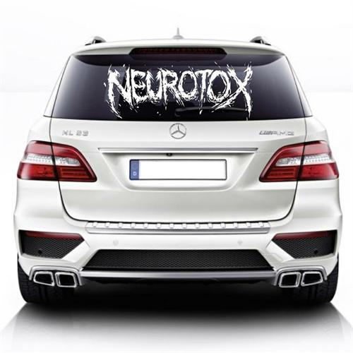 Neurotox - Logo, Heckscheibenaufkleber
